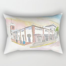 Key West Florida Bar Duval Street Scene Rectangular Pillow