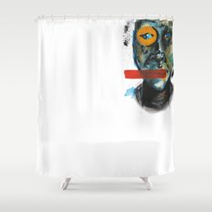 Geometry Face Shower Curtain