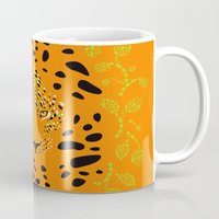 leopard Mugs featuring Leopard by Ornaart