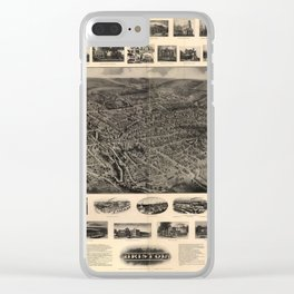Bird's Eye View of Bristol, Connecticut (1907) Clear iPhone Case