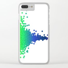 Rainbow Volcano Coral Genes Clear iPhone Case