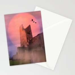 Castle in the evening Stationery Cards