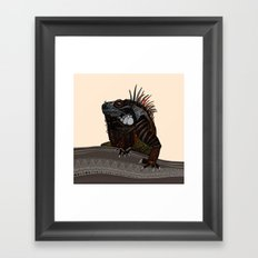 iguana ecru Framed Art Print