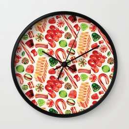 Christmas Candy Pattern Wall Clock