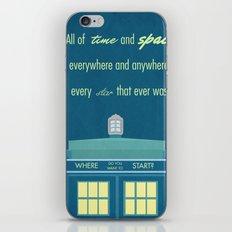Doctor Who TARDIS iPhone & iPod Skin