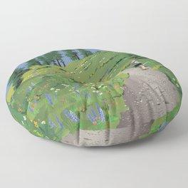 Silver Star Mountain Floor Pillow