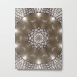 Silver and gold CB Metal Print