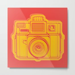 I Still Shoot Film Holga Logo - Reversed Yellow & Red Metal Print