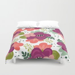 Blooming Florals Duvet Cover