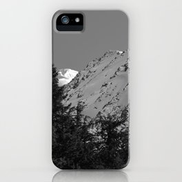 Gwin's Winter Vista - B & W iPhone Case