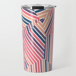 Tequila Sunset - Voronoi Stripes Travel Mug