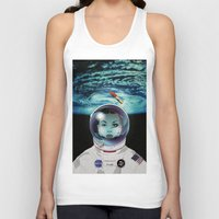 pilot Tank Tops featuring Miss Space Pilot by SEVENTRAPS
