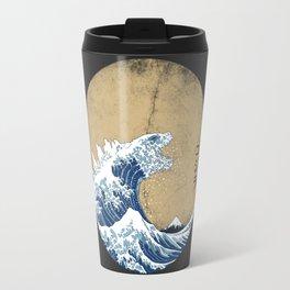 Hokusai Kaiju - Vintage Version Travel Mug