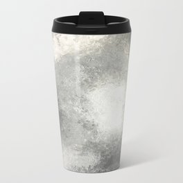 Grey and White Ombre Metal Travel Mug