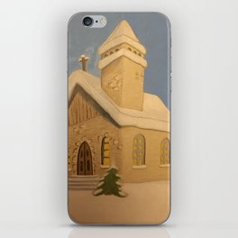 Christmas Church iPhone Skin