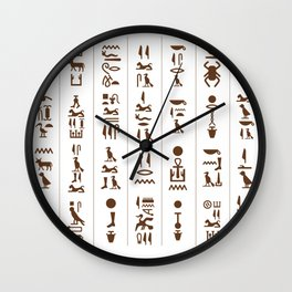 Egyptian Hieroglyphics design / Egyptian Ancient / Pyramids lover Egypt History / Egypt gift idea archeologist anthropology gift Wall Clock