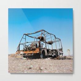 Desert Wreckage Metal Print