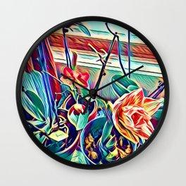 Ochids in Winter Wall Clock