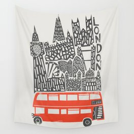 London Cityscape Wall Tapestry