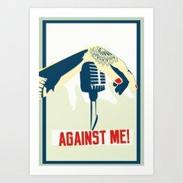 Against me! fan art Art Print