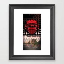 Gastown Cycling Racing Reds Framed Art Print