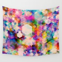 stickers Wall Tapestries featuring Bitmap by Simon C Page