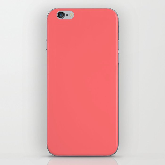 Matching Light Coral iPhone Skin