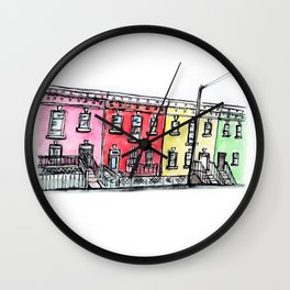 DC row house no. 1 II Columbia Heights Wall Clock