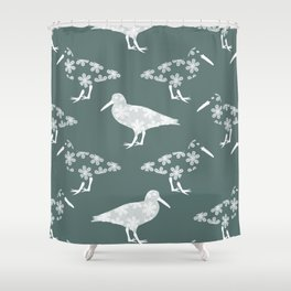 White Birds of a Feather Shower Curtain