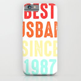Husband Gift Best Since1987 Marriage Groom Present iPhone Case