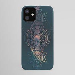 Dark Moon Phase Nebula Totem iPhone Case