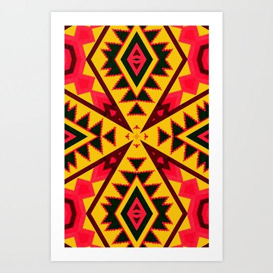 Pasión Azteca Art Print