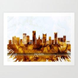 Incheon South Korea Skyline Art Print