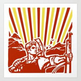 OCTOBER REVOLUTION Art Print