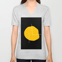 Black Yellow Unisex V-Neck