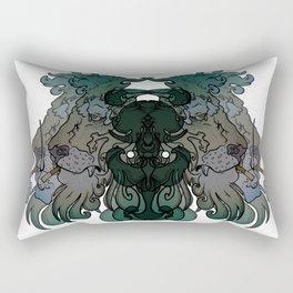 Smoking Lion Rectangular Pillow