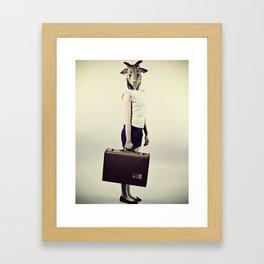 bon voyage. Framed Art Print