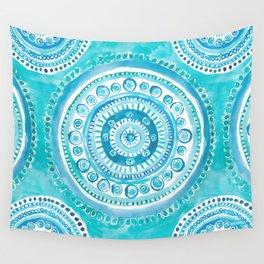 PEARLS OF WISDOM Mermaid Mandala Wall Tapestry