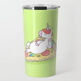 Unicorn Pizza Travel Mug
