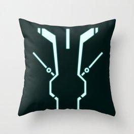 Blue Tronic Throw Pillow