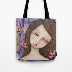 Serenity, Mixed Media Artwork Tote Bag
