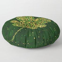 Irish Shamrock Four-leaf Lucky Clover Floor Pillow