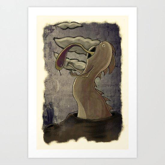 Dragbol Art Print