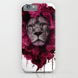 Floral Mane Lion iPhone Case