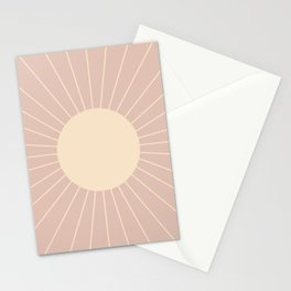 Minimal Sunrays - Neutral Pink Stationery Cards