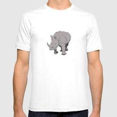 Rhino Mens Fitted Tee White MEDIUM
