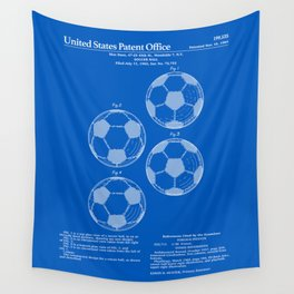 Soccer Ball Patent - Blueprint Wall Tapestry