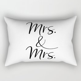 Mrs. & Mrs.  Rectangular Pillow