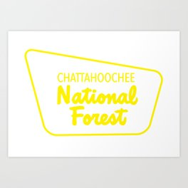 Chattahoochee National Forest Art Print