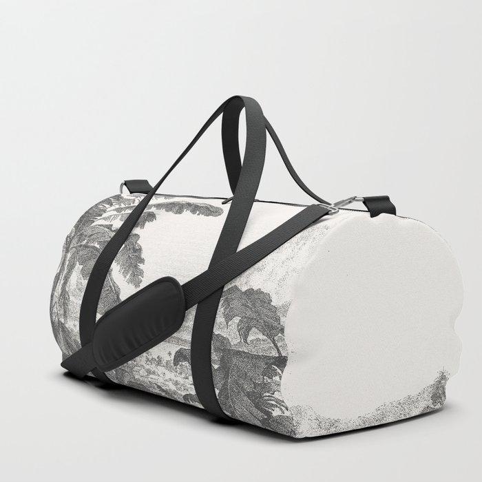 Palms and Mountain Duffle Bag